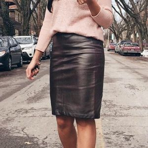 🛍New York & Company Bronze Faux Leather Skirt